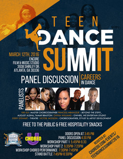 Teen Dance Summit Flyer
