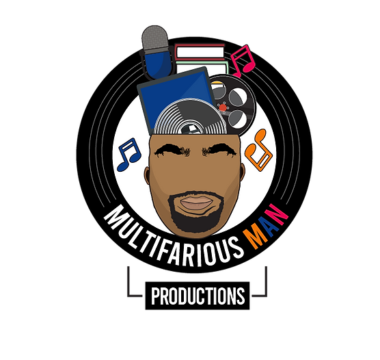 Multifarious Man Productions White Logo.