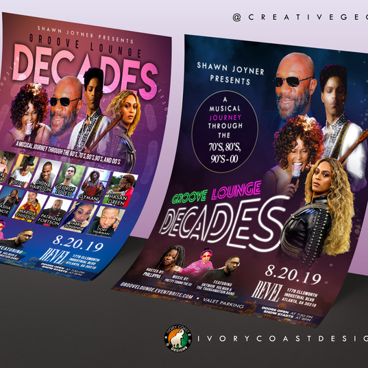 Mockup -0 Groove Lounge Decades Flyer De