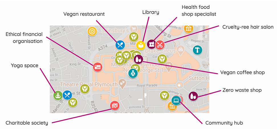 Plymouth Social Impact Map by AppyMaps