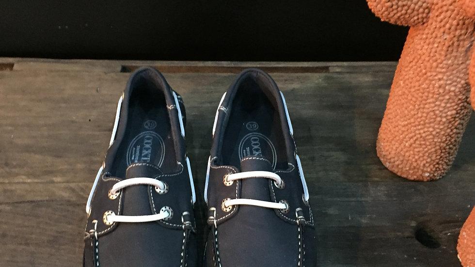 Chaussure Bateau nubuck marine