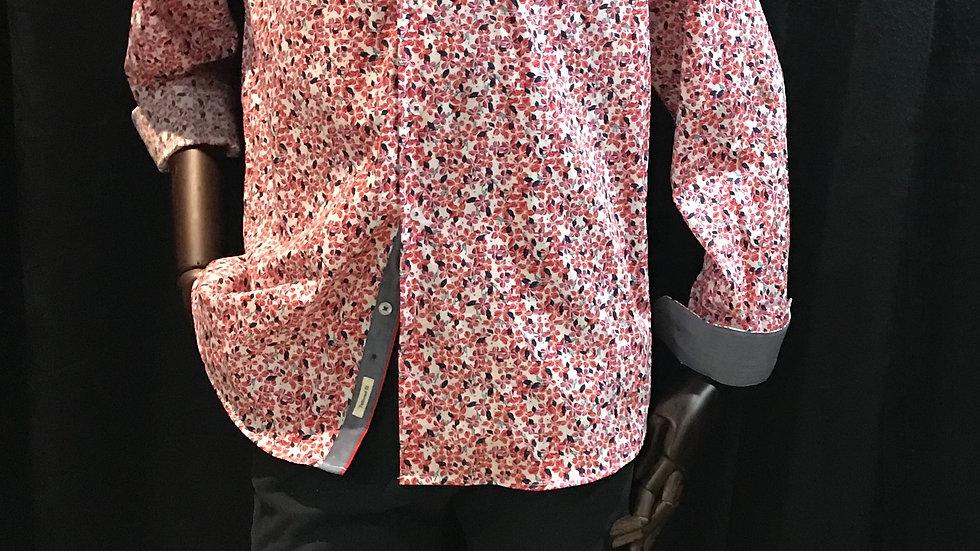 Chemise petits motifs  Manches longues