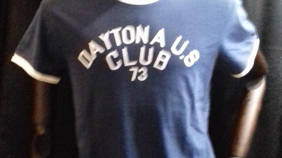 Tee shirt  daytona 73 quincy slub  navy