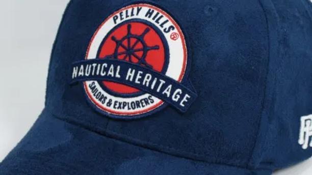 Casquette Baseball Bleu  Daim  PELLY HILLS