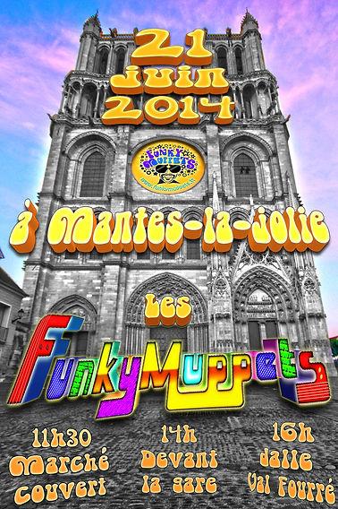 La fanfare funk à Mantes la jolie pour la fête de la musique 2014