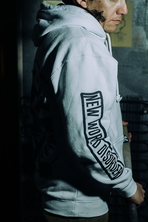 Mens' New World Disorder Hoodie (White)