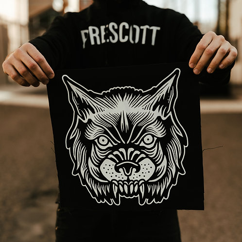 Full Size Wolf Back Patch
