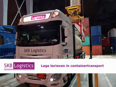 Laag tarief voor containertransport