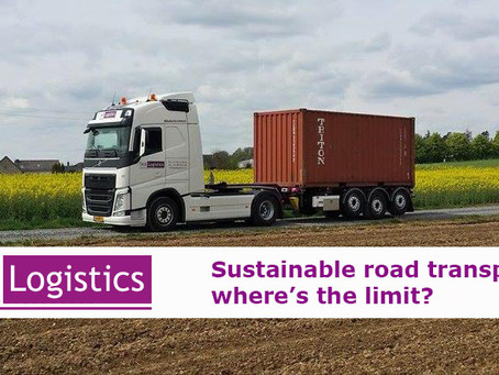 Sustainable container road transport: where's the limit?