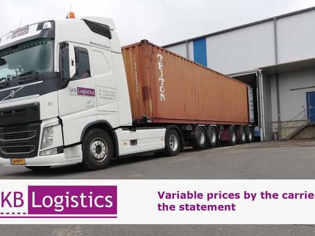 Variabele prijzen bij de vervoerder: de verklaring