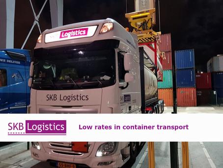 Niedrige Preise für den Containertransport