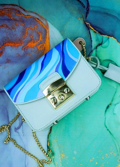 BLUES Mini Leather Shoulder Bag