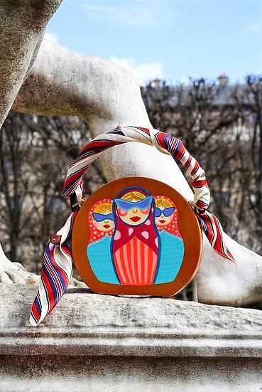 DOLLS' GANG Two-sided Wooden  Handbag