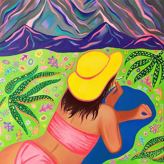 Trippy Hippie Painting
