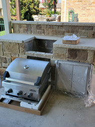 Oklahoma stone with leuders countertop BBQ. Equipment is ready for install.