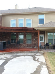 Attached pergola and new posts for existin patio cover.