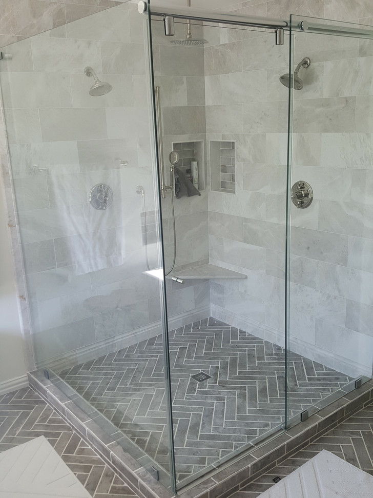 Bathroom remodeled down to the studs, including plumbing and electrical.