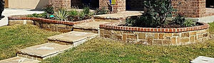 Brick and Stone planter boxes
