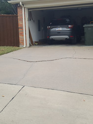 Original driveway cracked and failed