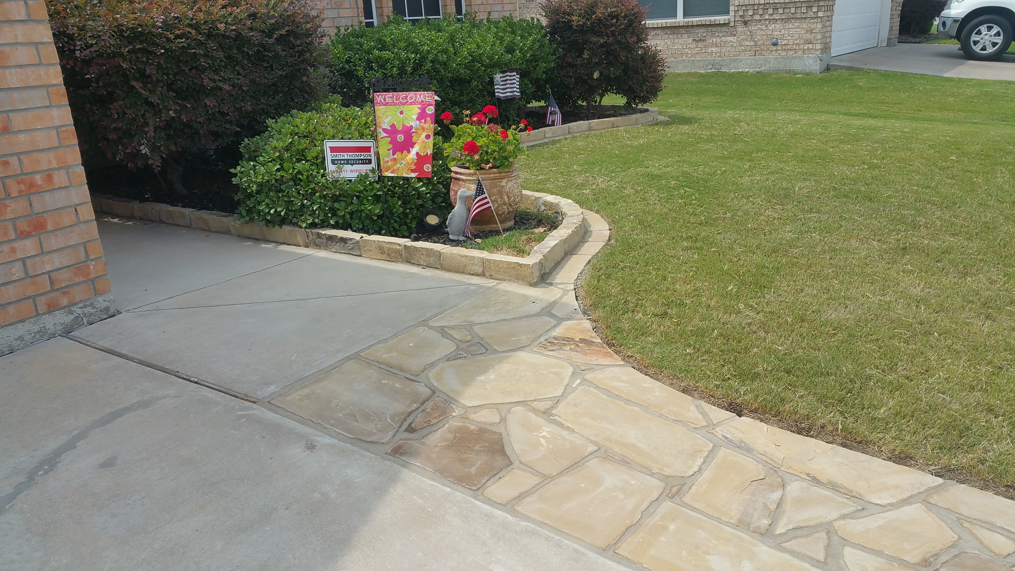 Flagstone and Edging