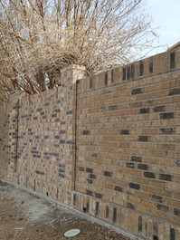 """Final product of a vehicle impact.  New bricks looks """"new"""" but with a little age will blend perfectly."""