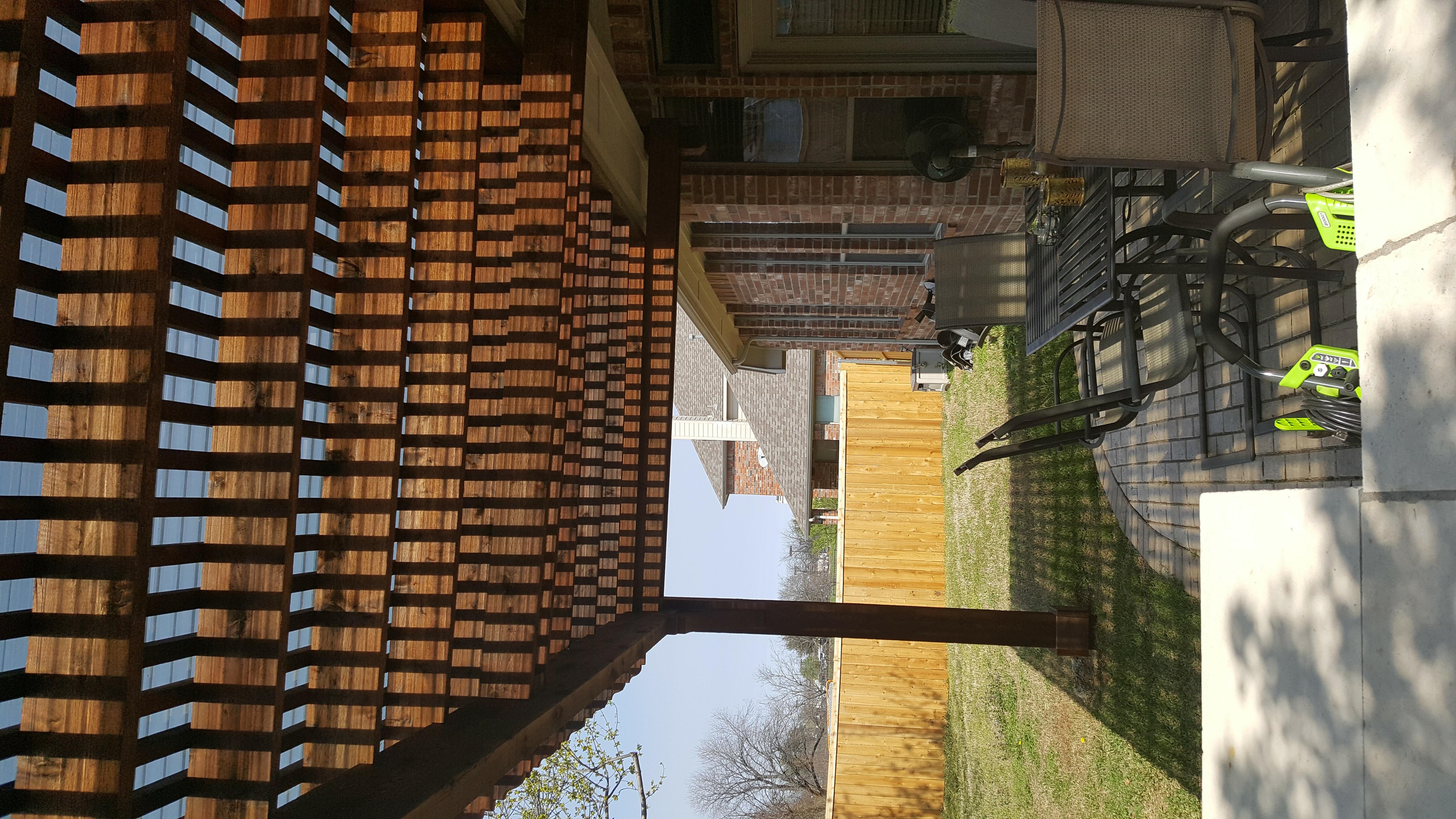 Cedar Attached Pergola