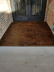 Entryway was stained and colored to brind it back to life.