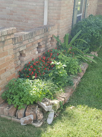 40 year old flower bed crumbling and falling apart.