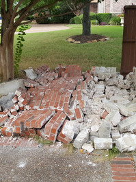 Sometimes backing out of the driveway is dangerous!