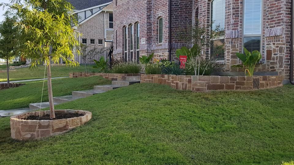 Stone planter boxes