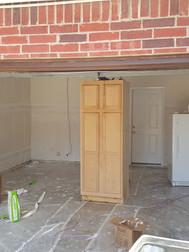 Garage remodel in progress
