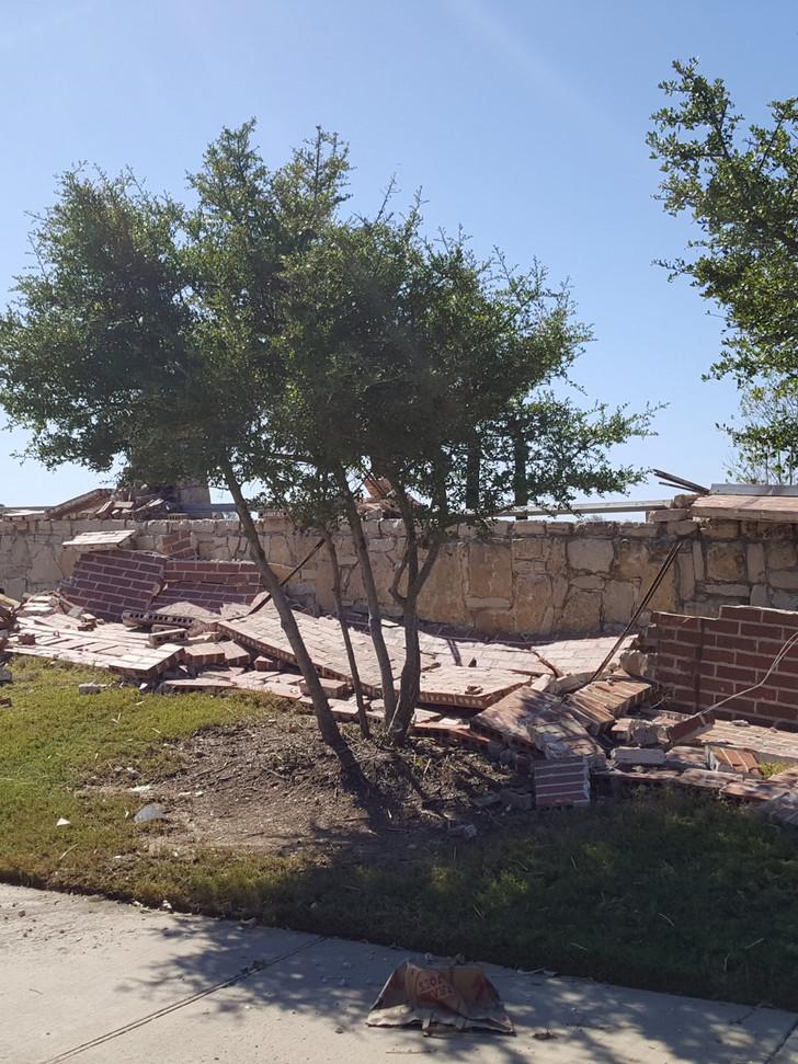 Tornado storm damages