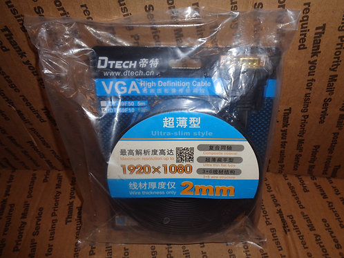 DTECH VGA High Definition 32Ft Cable [Ultra-Slim Style [1920x1080 2mm