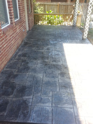 Integral colored ashlar stamped and antiqued patio.  Original slab was extended.