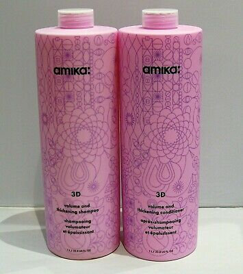 amika 3D Volume & Thickening Shampoo AND Conditioner LITERS