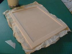1. Glueing on muslin