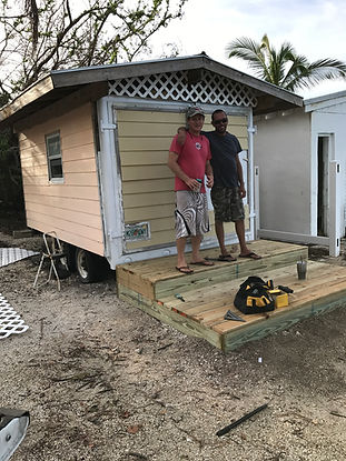 Fixing Kayak shed moved by Irma