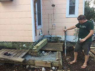 fixing destruction by Irma