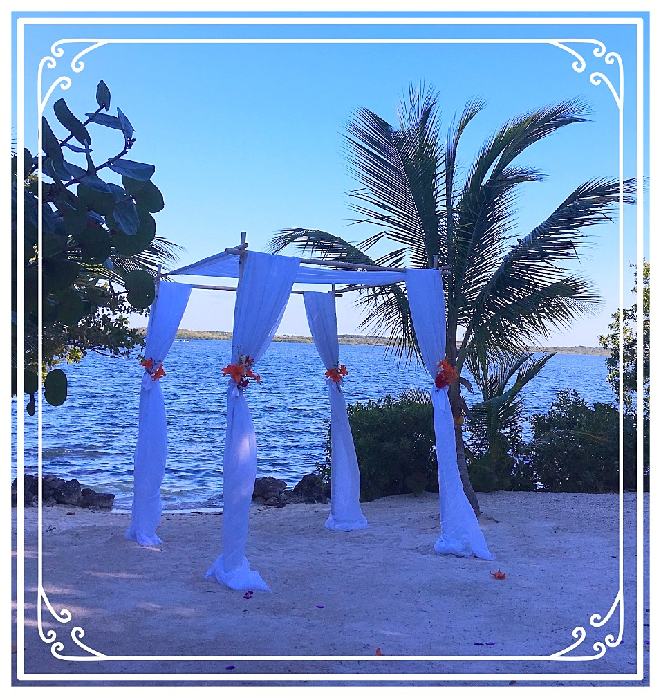 Beautiful Wedding Stand on Beach