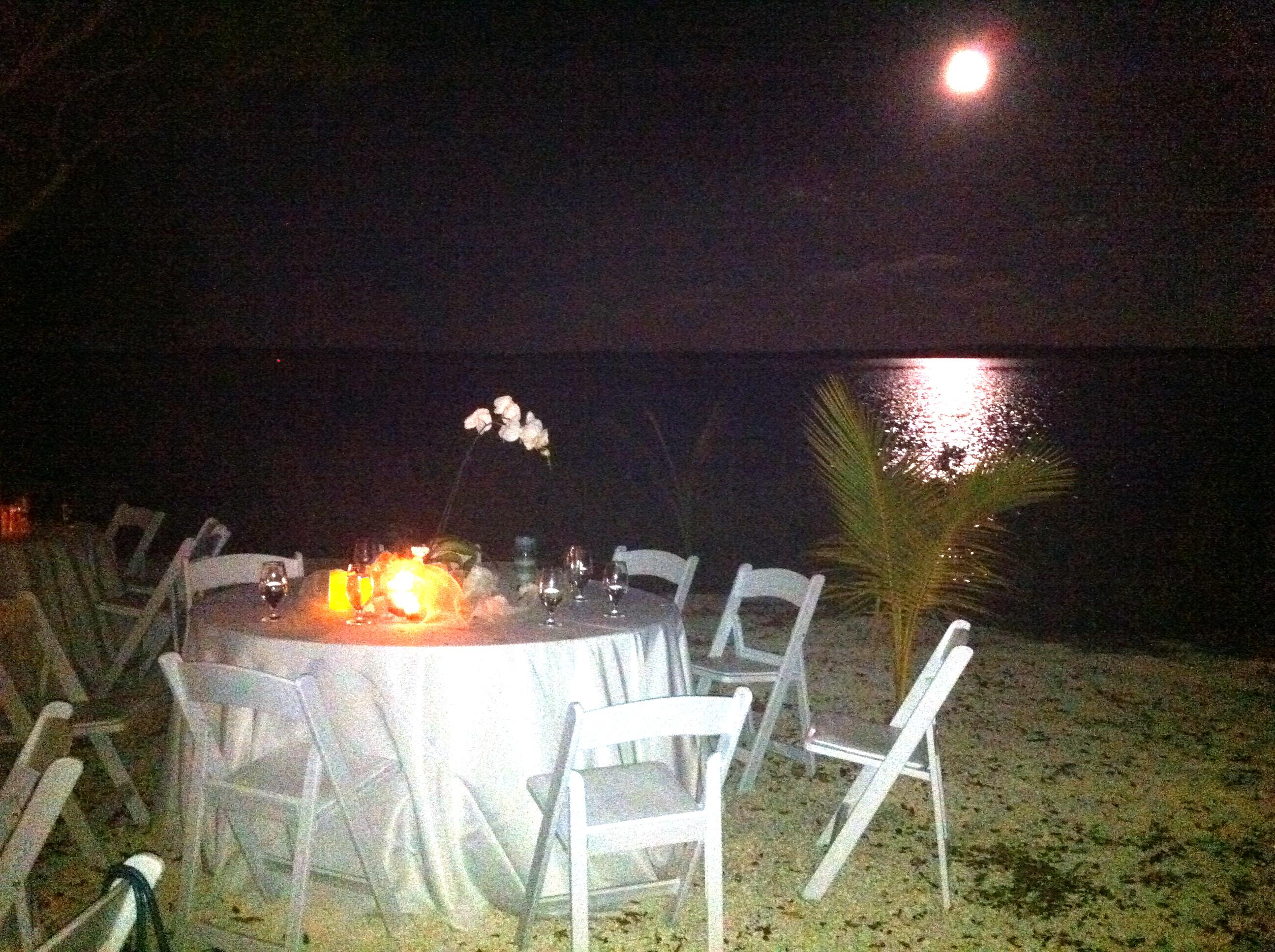 Moon over Largo Sound .