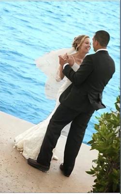 Wedding dance on the water!