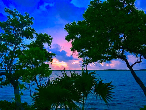 sunset over Key Largo