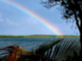 Rainbow over Llargo Sound