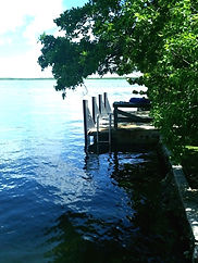 Wedding dock Historic Shadow Point in Key Largo