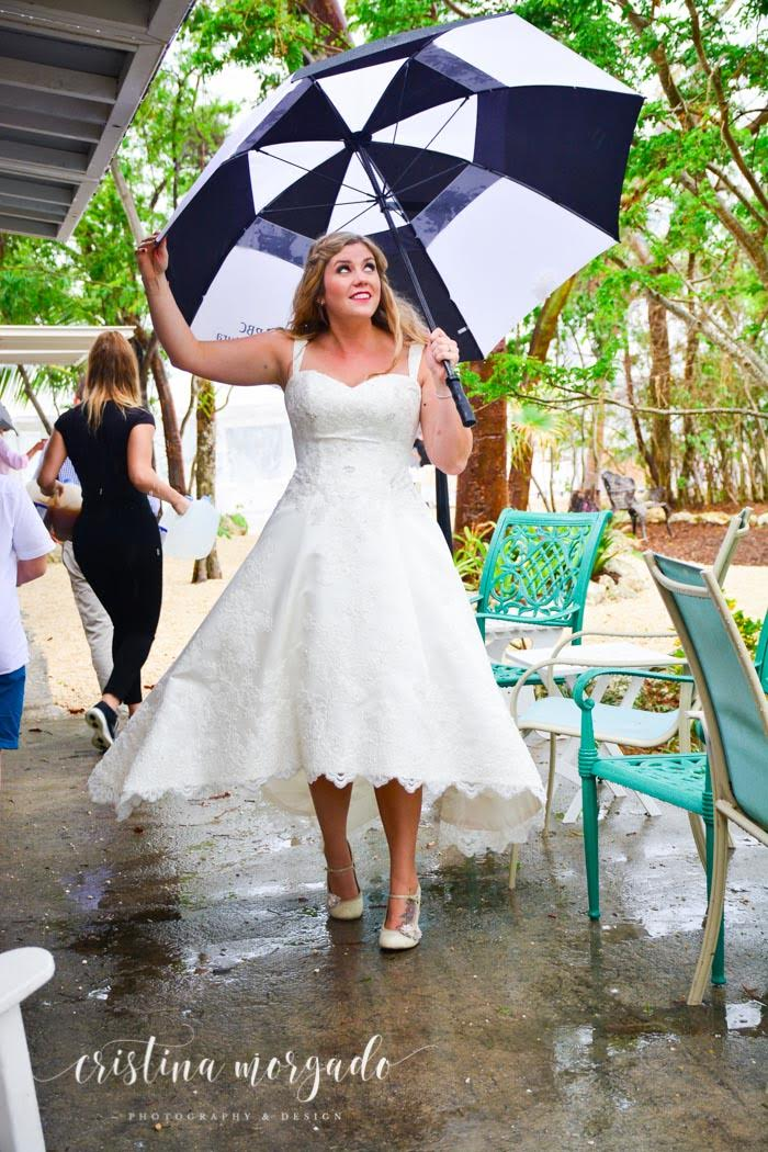 Beautiful Bride even in the rain