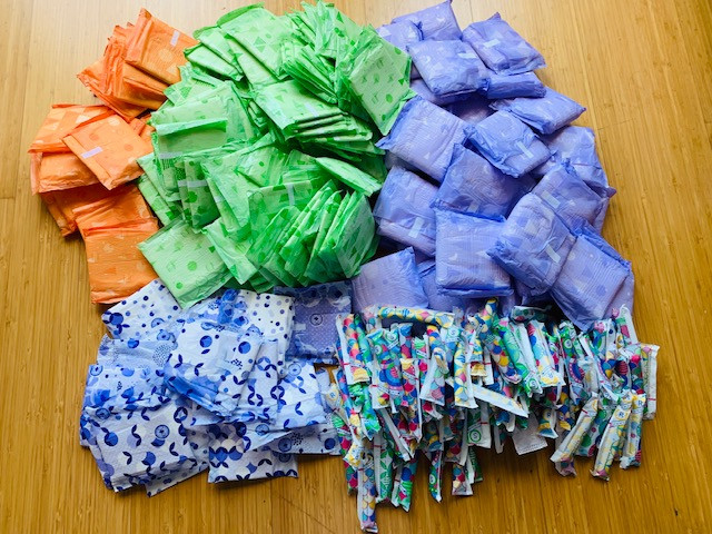 Feminine Hygiene Kit Pads and Tampons