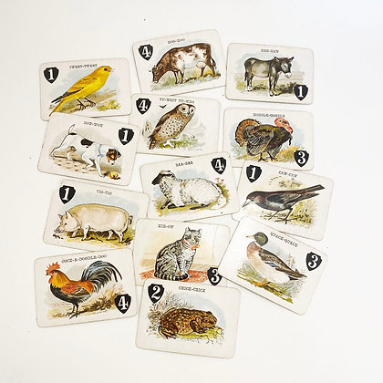 CLEARANCE - Animal Game Cards