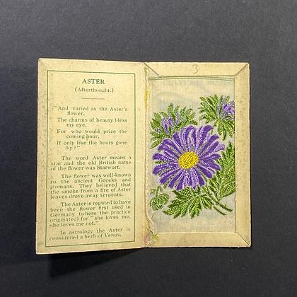 Aster - Silk Embroidery 1933 Cigarette Card
