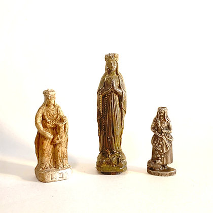CLEARANCE - 3 Small Metal/Plaster Religious Icons