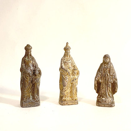 3 Small Metal Religious Icons